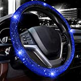 Valleycomfy Steering Wheel Cover for Women Bling Bling Crystal Diamond Sparkling Car SUV Wheel Protector Universal Fit...