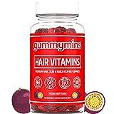 Gummymins™ Hair Vitamins (Hair Gummies) | Premium Hair Skin and Nails Gummies | 6000mcg Biotin Gummies + MultiVitamin | Hair Growth Gummies | Gluten Free, Non-GMO | Hair Skin Nails Gummy Vitamins