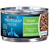 Purina Pro Plan Weight Control Pate Wet Cat Food, FOCUS Weight Management Turkey & Rice Entree - (24) 3 oz. Pull-Top Cans
