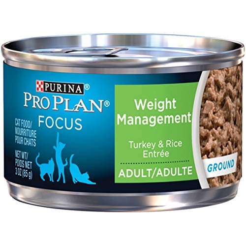 Price comparison product image Purina Pro Plan Weight Control Pate Wet Cat Food,  FOCUS Weight Management Turkey & Rice Entree - (24) 3 oz. Pull-Top Cans