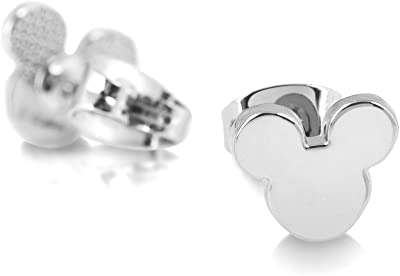 Disney Couture Kingdom White Gold-Plated Mickey Mouse Head Stud Earrings