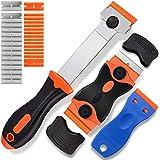 TANWUU Razor Blade Scraper, 3 pack Scraper Tool with 18 Plastic Razor...