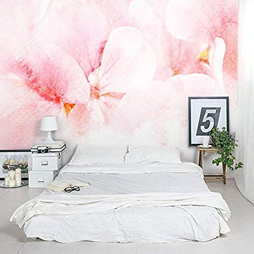 Personalisierte Tapete Pink Orchid Jungle Mural TV Wall Wallpaper fototapete 3d Tapete effekt Vlies wandbild Schlafzimmer-400cm×280cm