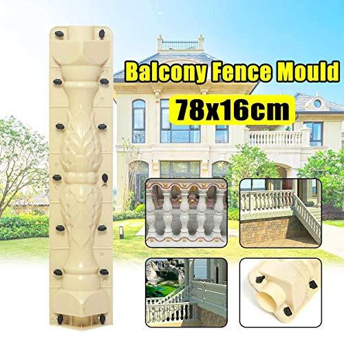 SHUGJAN Retro Balcón Decoración de la cerca del molde molde for Balaustradas de hormigón for estucar ABS nueva herramienta reutilizable Fundición de plástico cerca del jardín Accesorios de bricolaje h