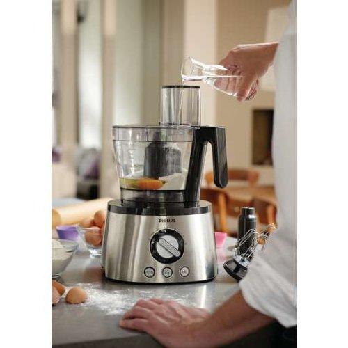 Philips HR7778/00 Küchenmaschine (1.300 Watt, inkl. Knethaken, Entsafter, Standmixer und Zitruspresse) schwarz/silber - 5