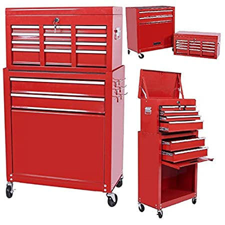 Handyman Heavy Duty Steel Toolbox with Chests