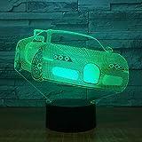 Nur 1 Stück Auto LED-Lichter bunte automatische Farbverlauf 3D Nachtlicht niedlich 7 farbwechselnde...