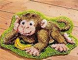 "Tischsets""do it yourself"" Method Of Needlework Kit Knüpfteppich Kit unfinshed/gestickte Teppich Cartoon-Bären-Muster (Color : ZD031 52cm38cm)"