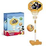 Mondo Toys - Super Basket Stand Mickey Mouse - Canestro da basket per bambini con colonna impianto da basket | elevata stabilità | Altezza regolabile fino a 165 cm - Palla basket INCLUSA - 18085