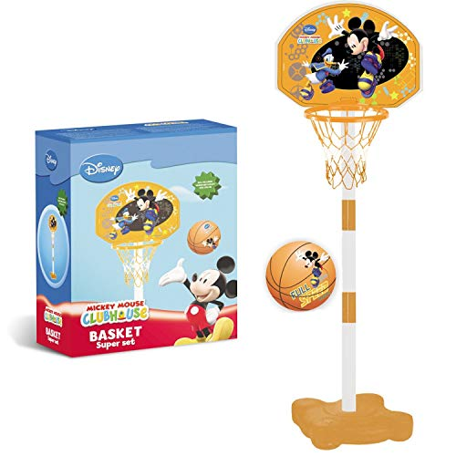 Mondo Mickey Mouse - Canasta de Baloncesto y Poste de Canasta