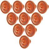manopola per mobili arancione manopola per mobili maniglia per mobili manopole in ceramica maniglie per cassettiera cassettiera armadio armadio mobili porta cucina con vite - 10 pezzi