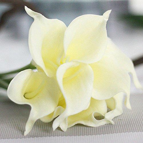 litymitzromq Artificial Flowers Fake Plants, 1Pc Artificial Calla Lily Flower Bridal Bouquet Wedding Home Romantic Decor Faux Fake Flowers Floral Arrangement Silk Flower Arrangements