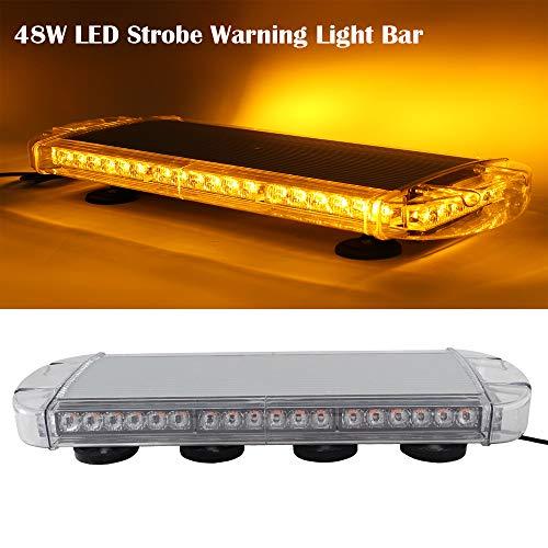 SXMA 48LED Notröhrenblitzwarnlicht Autosicherheits-Dach Blinkende Bar Strobe-Blinkende Led-Lichtleiste Leuchtfeuer Auto-Licht
