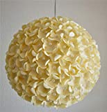 Creame Pearlflower, Ø 32cm, Papierlampe Hängelampe Lampe Lampenschirm Pendellampe Designerlampe...