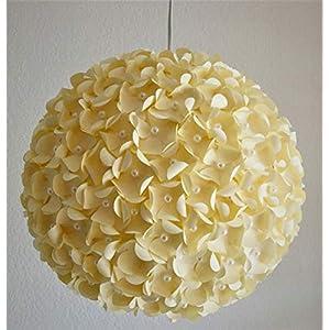 Creame Pearlflower, Ø 32cm, Papierlampe Hängelampe Lampe Lampenschirm Pendellampe Designerlampe Deckenlampe Leuchte…