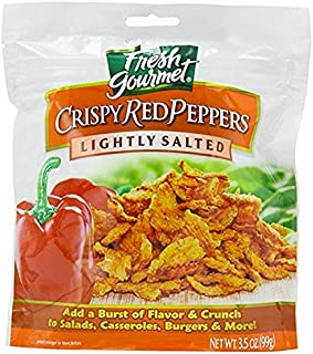 Fresh Gourmet Crispy Red Peppers, Lightly Salted, 3.5-Ounce (Pack of 3)