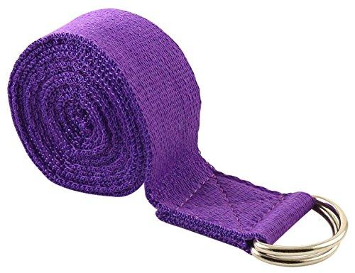 FIT SPIRIT 6 ft Fitness Exercise Yoga Strap - Purple