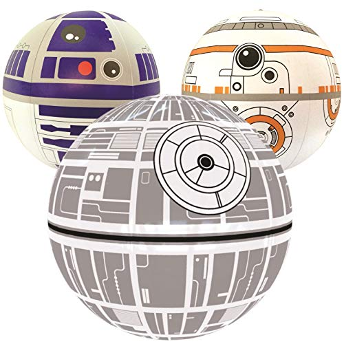 NINOSTAR Large Play Balls Set of 3 - Fun Indoor and Outdoor Gift - Can Use for Play/Room Decor/Party Decor/Pool Inflatable Water Toys