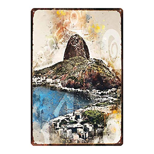 DT Poster City Landscape Retro Cartel de Chapa Hogar Bar Decoración de Pared 20x30cm DU-8679