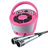 Groov-e Portable Party Karaoke Boombox Machine with CD Player, Bluetooth Wireless Playback, Party