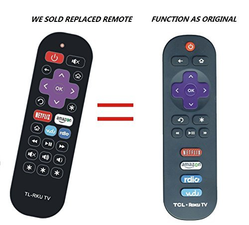 Replacement Remote Control Controller for TCL 55S405 55P607 55-Inch 4K Ultra HD Roku Smart LED TV (2017 Model)