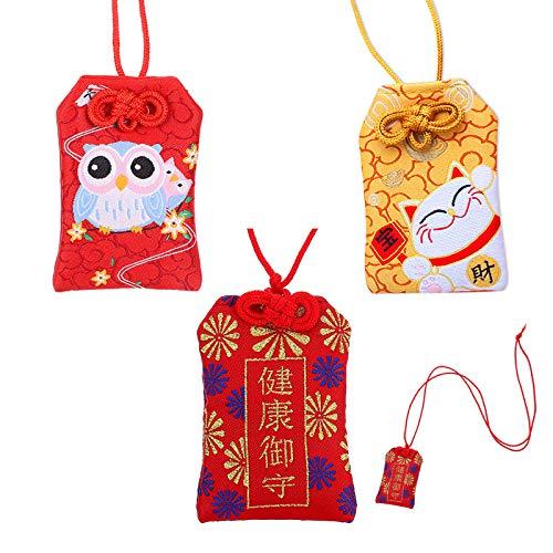 Bolsa De Bendición La Suerte Amuleto Japonés Amuleto De La Suerte Japones Tradicional Japonesa Bolsa De Bendición Japonesa para Salud La Educación Ama La Seguridad La Rique