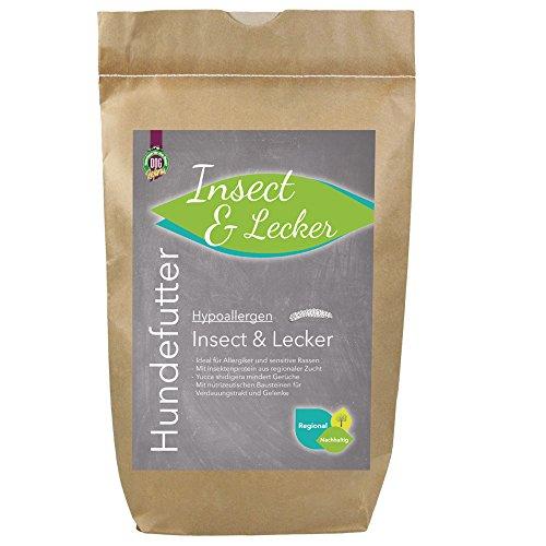 mächtig der welt Schecker Hypoallergene Insekten & Wrecker 12 kg – Getreidefreies Hundefutter – Ideal für allergische Patienten.