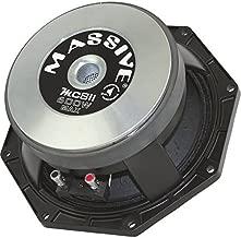 Massive Audio MC8II MC Series. 8 Inch, 600 Watts, 8 Ohm Pro Audio Midrange/Midbass Speaker for Cars, Stage and DJ Applications. Sold Individually.