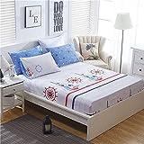 XGguo Protector de colchón de Rizo algodón y Transpirable Sábana de algodón Antideslizante comfort-11_200x220cm