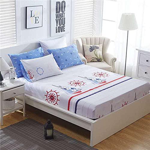XGguo Protector de colchón de Rizo algodón y Transpirable Sábana de algodón Antideslizante comfort-11_135x200cm