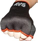 BAY® Schlupfbandagen Größe M, schwarz, Faustbandagen, elastische Innenhandschuhe, Handbandagen, Boxbandagen, Box-Bandagen, 1 Paar