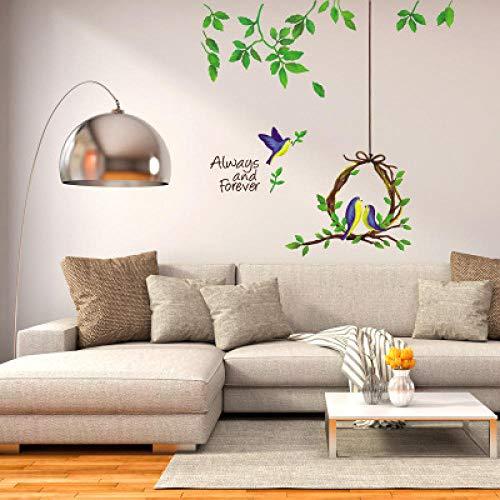 Muursticker, hangmand, plant, verwijderbaar, voor woonkamer, slaapkamer, bank, papier, foto, decoratie, PVC-behang