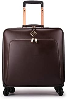 Trolley Case Trolley Laptop Bag Business Wheeled Cabin Sized Computer Bag Briefcase Carry On Small Trolley Case 16 Inch,Black Travel Luggage Carry-Ons (Color : Brown)