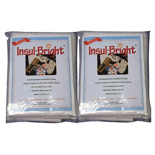 Insul-Bright Insulated Lining 36 x 45 Inches - 2 Packs