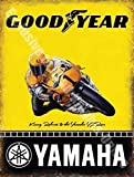 Yamaha Goodyear Racing Moto Kenny Roberts/Métal Acier Mural Signe - 15 x 20 cm