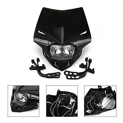 Universal Headlight Head Lamp Light Fairing Street Fighter Mask Day Running Light Turn Signal Lights