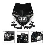 Street Fighter Headlight Universal Motorcycle Supermoto LED Light Dirt Bike Headlight Front Head Light For CRF YZF KXF KLX RMZ DRZ KX RM YZ SX EXC XC125 250 300 350 450 Black