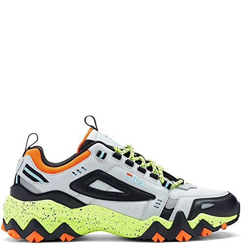 Fila Men's Oakmont TR Fashion Sneakers Highrise/Black/Safety Yellow 11.5