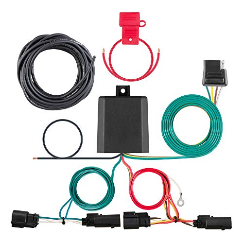 CURT 56335 Vehicle-Side Custom 4-Pin Trailer Wiring Harness, Select Ford Escape