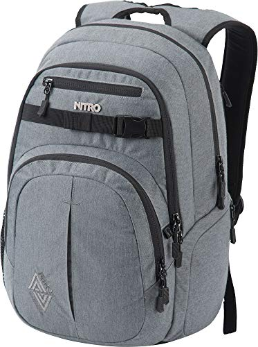 Nitro Chase Rucksack, Schulrucksack mit Organizer, Schoolbag, Daypack mit 17 Zoll Laptopfach, Black Noise, 35L