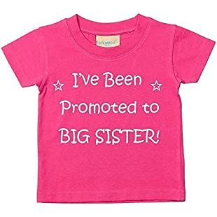 I've Been Promoted to Big Sister Pink Tshirt Baby Toddler Girls Kids Available in Sizes 0-6 Months to 3-4 Years New Baby