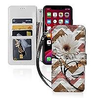 花 ウォールアート ひまわり Iphone 11 ケース 手帳型 カード収納 マグネット カードポケット付き Qi充電対応 スタンド機能 カバー PUレザー 保護ケース 耐衝撃 耐摩擦 アイフォン11 ケース