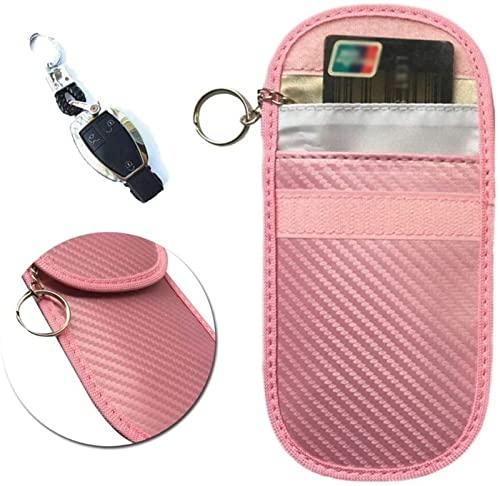CEXTT Bolso de Faraday Rfid Bolsa de llaves, señal sin llave de señal sin llave de bloqueo de claves de señal Bloqueador de señal Bolsa antirrobo Entrada remota Protección inteligente Fobs Protección,