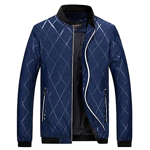 Xmiral Daunenjacke Herren Winterjacke Hooded Puffer Jacket, Steppjacke gefüttert mit Kapuze (4XL,Blau)