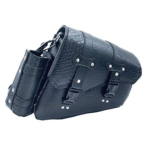 Leisuretime - Bolsa de sillín para moto, bolsa para herramientas de moto, bolsa de sillín impermeable, de piel sintética