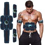 Moonssy Elettrostimolatore per Addominali Elettrostimolatore Muscolare Addominale Tonificante Cintura ABS EMS Stimolatore Muscolare Addome/Braccio/Gambe/Waist/Glutei USB Ricaricabile 3 in 1 (A9)