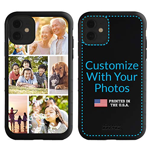 Guard Dog Custom iPhone 11 Cases - Personalized - Make Your Own Protective Hybrid Phone Case - 6-Frame Photo Collage