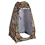 Your Choice Pop Up Camping Shower Tent, Portable Changing Room Camp Shower Toilet Privacy shelter Tents for Outdoor and Indoor, 6.2FT Tall - Color Camo Green