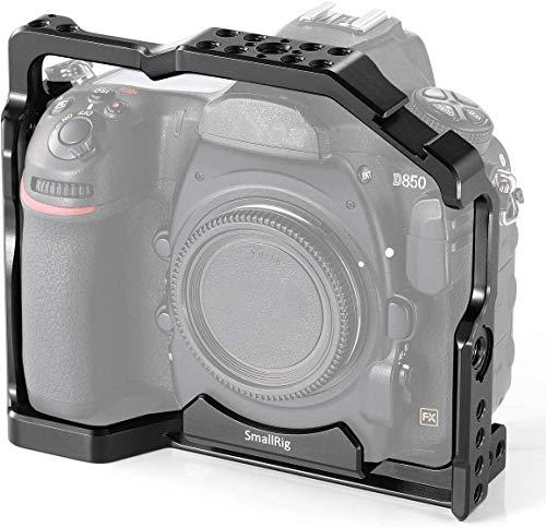 SMALLRIG Cage Gabbia per Nikon D850 con Build-in Cold Shoe con NATO Rails con Piastra a Sgancio Rapido per Arca Standard - 2129