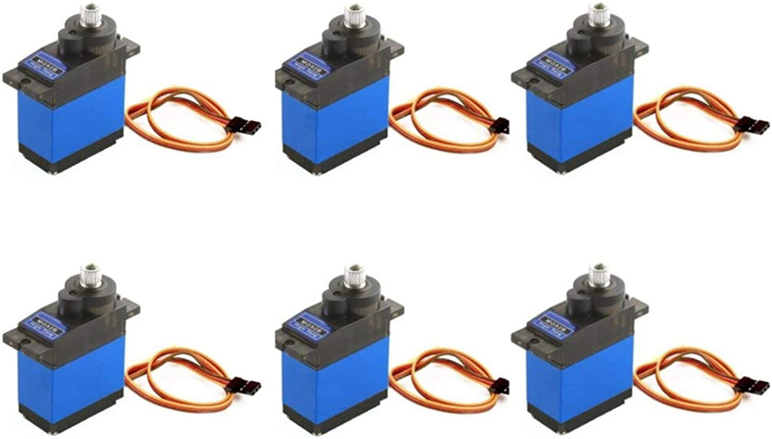 LaDicha 6PCS MG92B Robot 13.8g 3.5KG Torque Metal Gear Digital Servo For RC Airplane